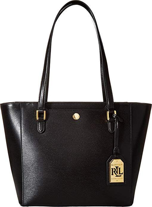 LAUREN Ralph Lauren Women s Newbury Halee II Shopper Black One Size  designer handbags spring handbags handbag fashion handbag … 902f77fd66be6