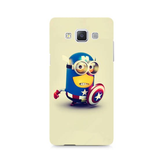 Shopo.in : Buy Samsung Galaxy A7 Cover_captain America Minion online at best price in Mumbai, India