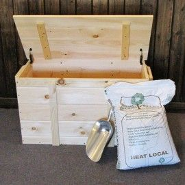 """Pellet Storage Box is designed to hold 240 lbs. (six 40 lb bags of pellets), and doubles as a bench seat. Available in Pine or Eastern White Cedar (linens stored in cedar is the ultimate storage!).19"""" long x 36"""" wide x 20.5"""" deep. Made from tongue and groove boards, and sturdy wooden handles on the side for easy moving about. Ships ready to assemble (RA) with detailed instructions - takes less then an hour! Also stays open on it's own. From $168.78…"""