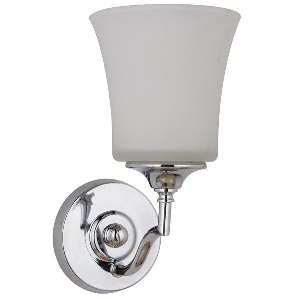 Savoy Wall Lights Chrome Bathroom Sconce Contemporary