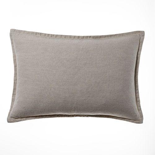 Belgian Vintage Washed Linen Long Cushion