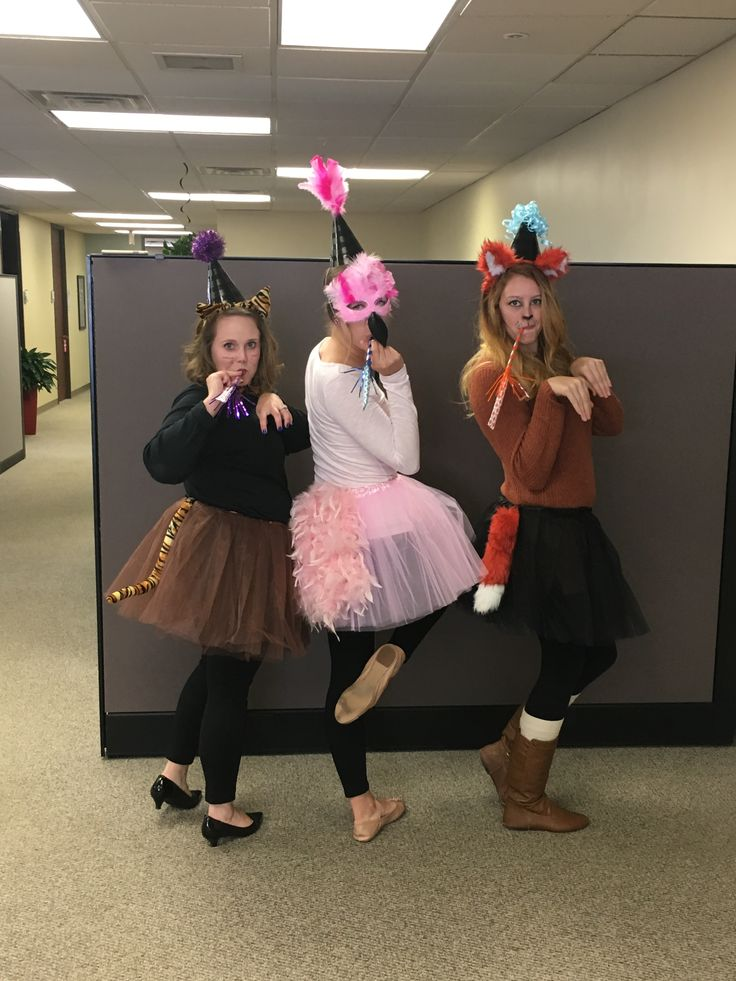 creative halloween costume for the office party animals tiger flamingo fox - Best Halloween Costumes For The Office