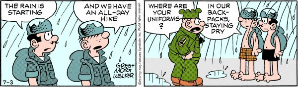 Beetle Bailey strip for July 3, 2017