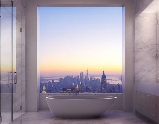 Stephanie thinks a NYC Apartment would be a very, very nice thing to own: View From The Bathroom Of A 95 Million Dollar NYC Apartment