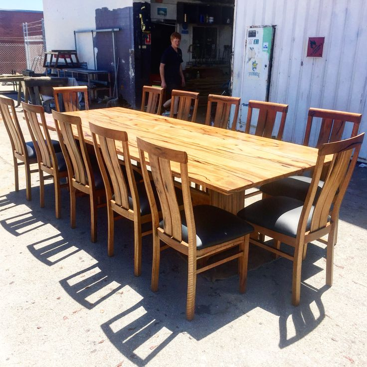3 metre marri dining table with 12 chairs