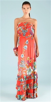 Hale Bob  Cabana Blooming Bouquet Ruffle Maxi Dress