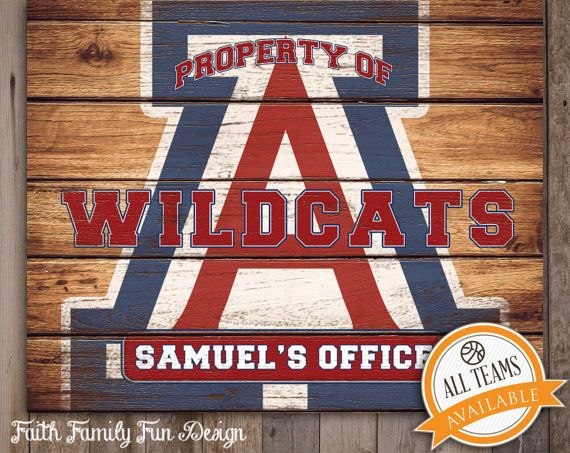 Custom Man Cave Signs Canada : University of arizona wildcats team sign printable