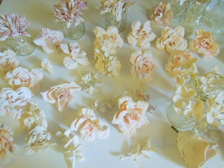9 best silk flowers dipped in plaster images on pinterest crafts diy plaster dipped flower votives mightylinksfo