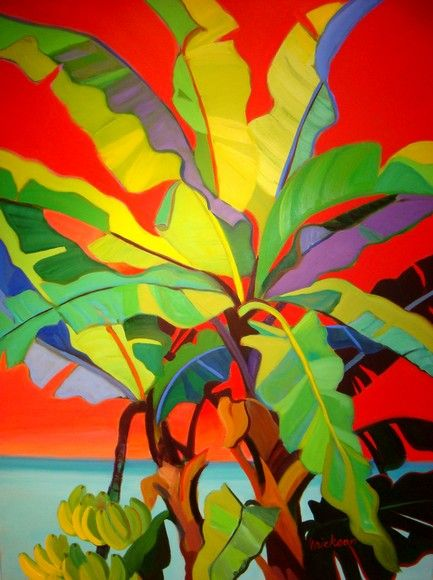 Shari Erickson - Banana tree - Camaieu - Art Gallery - Saint Martin