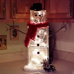 christmas-made out of glass blocks with lights inside, have to make this