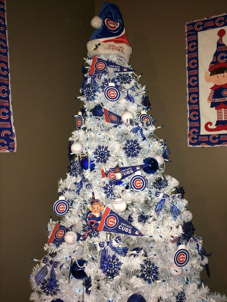 Chicago Cubs Christmas tree cubbies