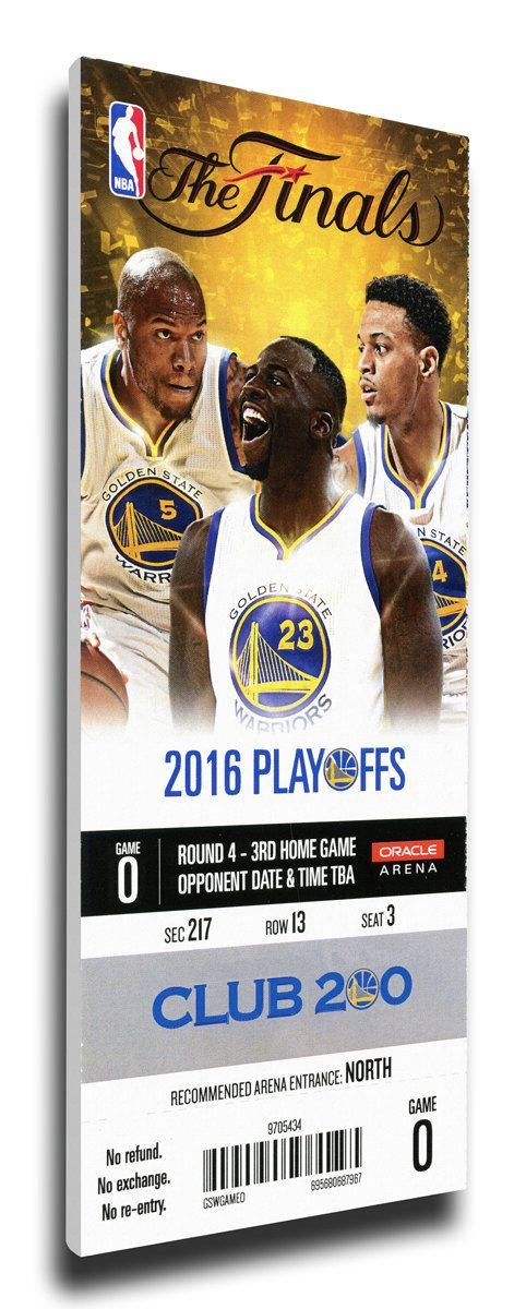 2016 NBA Finals Game 5 Canvas Mega Ticket - Golden State Warriors