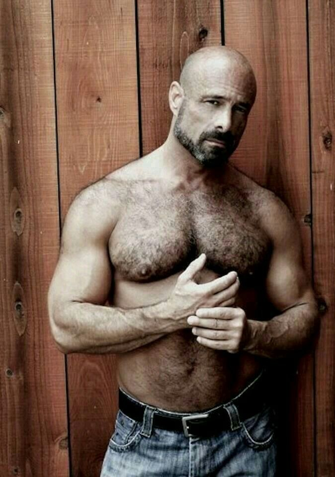 Bald hairy men naked