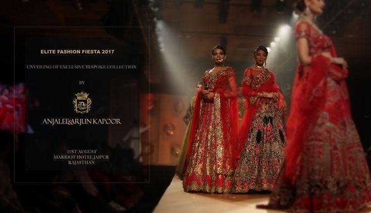 #Anjaleeandarunkapoor presents #Elitefashionfiesta2017 in #Jaipur on August 21st. Exclusive fashion show by the designers where you get a chance to meet the celebrities like Pooja Bedi, Daisy Shah, Urvashi Routela, Mandira Bedi and many more.    #fashionshow  #fashionista  #bridalfashion  #fashionevent  #aak #Jaipurfashionevent #bridalcouture  #bridalcouture2017 #traditionalwear #aakfashion #fashiondesigner  #weddingdressdesigners #indianfashion