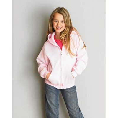 Kids Full Zip Hoodie Coloured Min 25 - Pouched pockets with set-in sleeves hoodie and a YKK Nylon covered zipper for full chest printing.  #Hoodies #Sweatshirt #PromotionalProducts #LadiesHoodie #KidsHoodie #MensHoodie