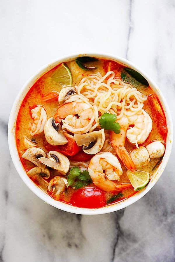thai-shrimp-noodle-soup – quick and easy Thai shrimp noodle soup made with ins…