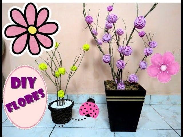 Diy Como Fazer Arranjo De Flores Com Galhos Secos E Eva Arranjos