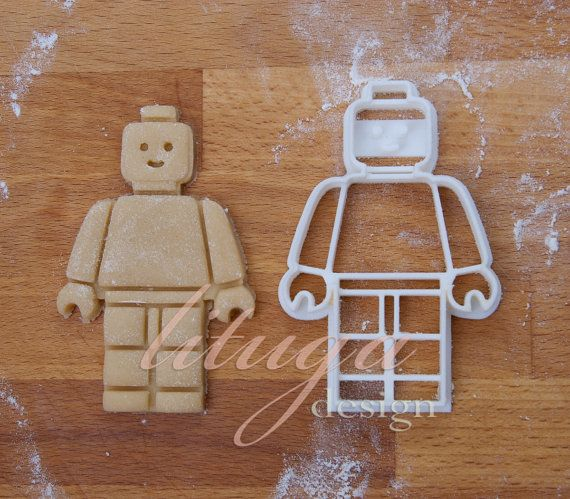 Lego man cookie cutter Maybe something for 3D Printer Chat?