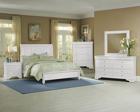 The beautiy is all in the details with the French Market Soft White Sleigh Bedroom set. #white #bedroom #classic #traditional