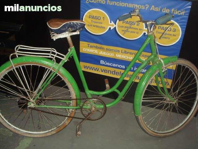 . Bicicleta de paseo clasica, pintada de verde-BH- Rueda 26 x 1. 53 (650 x 35A),Frenos de varilla, los mejores!! parrilla trasera y luz, guardabarros. La bicicleta se encuentra en buen estado, tal y como se puede ver en las imagenes