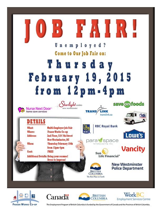 Unemployed? Looking for work? Need a career change? Come to our job fair!