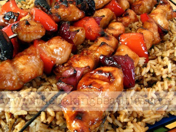 Honey Chicken Kabobs - The Baking BeautiesHey!  #recipe #chicken