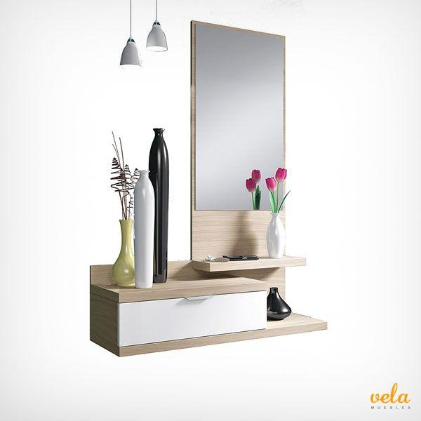 Mira qué ofertón de mueble recibidor de madera natural. Uno de los más vendidos. Echa un vistazo a este y otras ofertas de recibidores online.