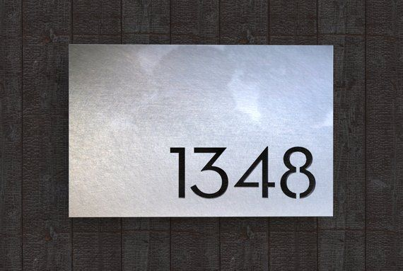 Stainless Steel House Number Plate Melrose Steel House House