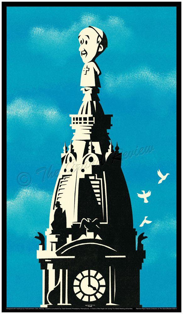 Pope Francis, Philadelphia City Hall Tower, World Meeting of Families Philadelphia 2015