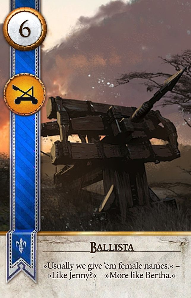 Ballista (Gwent Card) - The Witcher 3: Wild Hunt