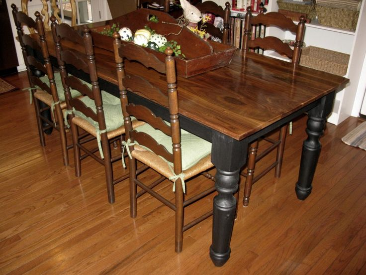 Dining Room Interior Elegant Rustic Two Tone Brown And Black Teak Table With Wooden Carved Chairs On Laminate Floor As Well Build A Dinin