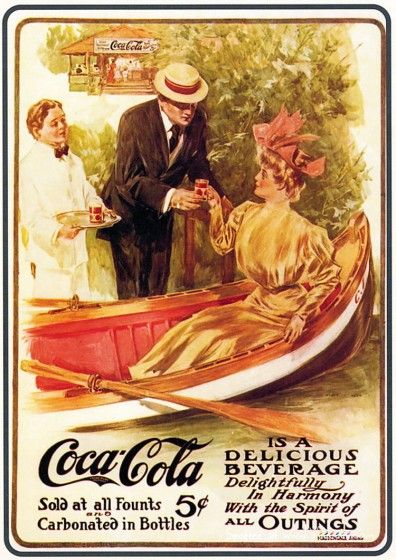 Can you imagine buying a Coke for 5 cents? Can you imagine how much you'll have to pay for a coke in 10 years? That's another reason to save! Vintage Coca Cola Advertisement