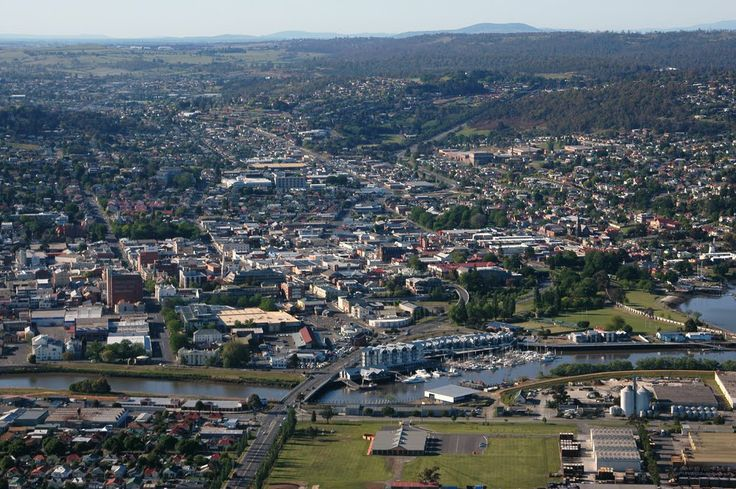 Launceston City Aerial View