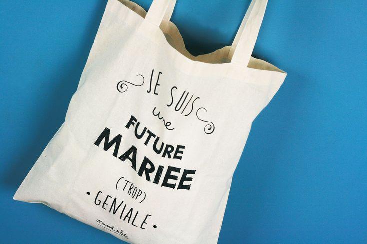 Les abonnées de la #DentelleBox de décembre sont des futures mariées (TROP) géniales grâce à ce tote-bag de chez Marcel et Lily !!! :D