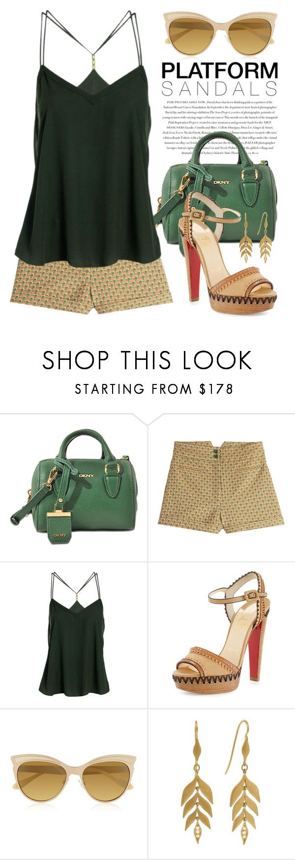 """""""Sandals with Platform and Heel 1875"""" by boxthoughts ❤ liked on Polyvore featuring Envi:, DKNY, Anna Sui, Christian Louboutin, Vivienne Westwood, Cathy Waterman and contestentry"""