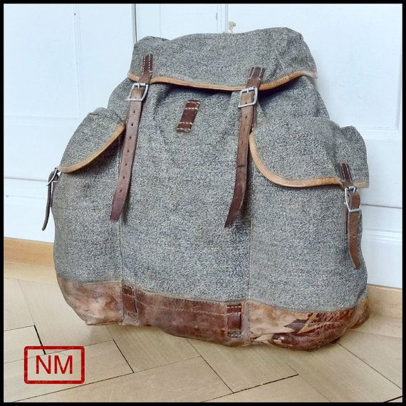 Vintage Swiss Army Backpack  Rucksack of the by NaturaMachinata