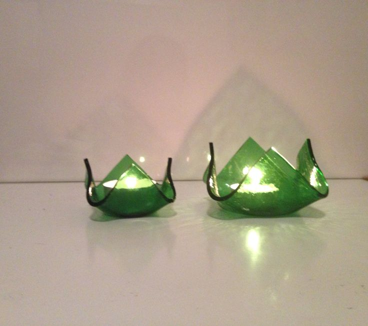 Gröna glaslyktor