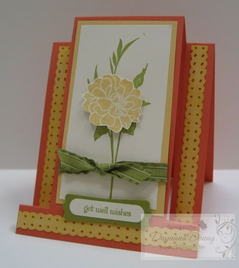 Fancy Folds | Impressions By Day: Florets Centre, Centre Stepper, Well Cards, Easel Card, Fancy Folds