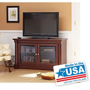 "Better Homes and Gardens Ashwood Road Cherry TV Stand, for TVs up to 47"". Walmart.com"