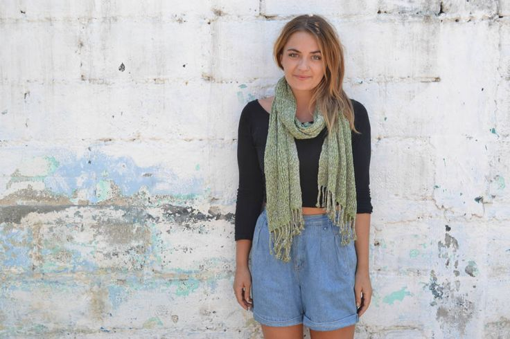 Cozy hand woven scarf. Made with love by our friends at Artesania Maya.