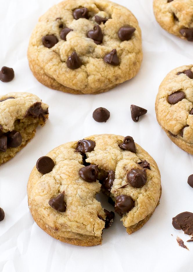 Coconut Oil Chocolate Chip Cookies made with coconut oil instead of butter. They are incredibly soft on the inside and firm on the edges. Thick and fluffy and loadedwith tons of chocolate chips!