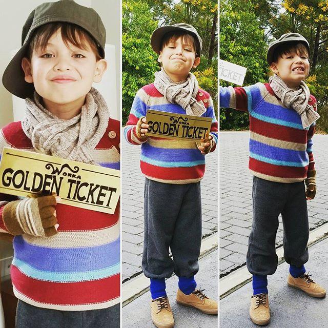 Diego as Charlie Bucket #chocolatefactory #charliebucket #diy  #bookweek…