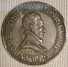 Coin of Henry III King of France 1577