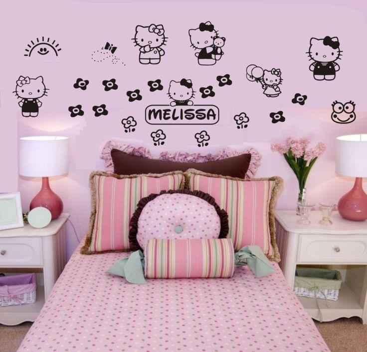 Fashionable Bedroom Interior Design With Hello Kitty Furniture Set Awesome Hello Kitty Bedroom Designs Design Inspiration
