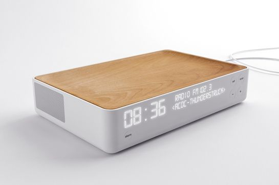 Alarm clock radio by Stone Designs
