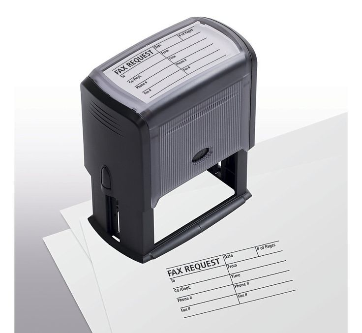 Fax Request/Cover Sheet Stamp - Self-Inking