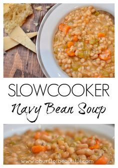Slow Cooker Navy Bean Soup - A Burst of Beautiful