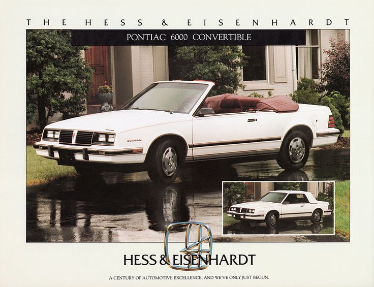 1984 Pontiac 6000 Convertible by Hess & Eisenhardt | Flickr - Photo Sharing!