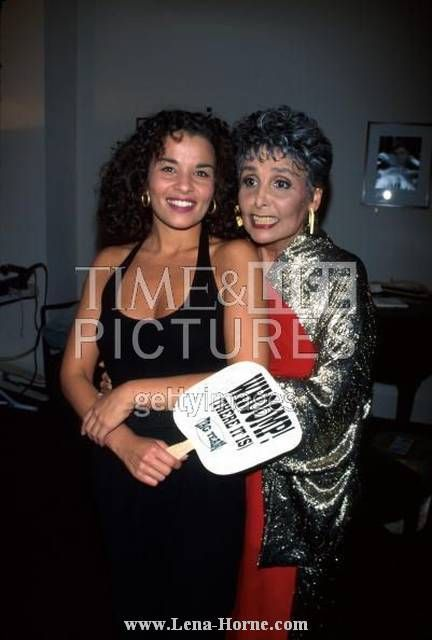 Lena Horne at 77 years old with  granddaughter Jenny Lumet.....Screenwriter Jenny Lumet, known for her award-winning screenplay Rachel Getting Married, is Horne's granddaughter, the daughter of filmmaker Sidney Lumet and Horne's daughter Gail.