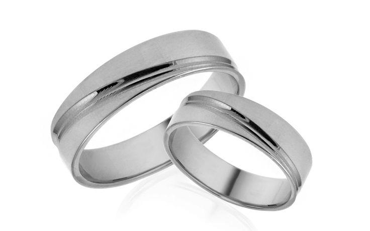 Svadobné obrúčky biele s ozdobnými líniami šírka 5 mm